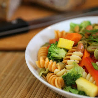 Multicolored Pasta Salad for a Crowd.