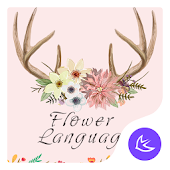 Beautiful Flower World- APUS Launcher theme