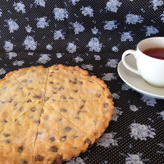 Paul Hollywood's chocolate chip shortbread petticoat tails.