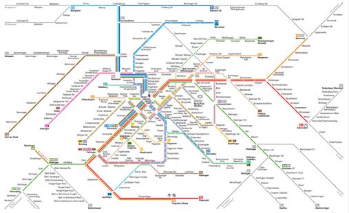 Stuttgart Subway Map