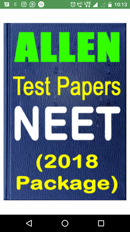 Allen NEET Test Papers 2018 (Full Set) – (Android Aplikace) — AppAgg