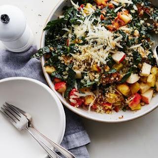 Kale & Bulgur Salad with Brown Butter Apple Vinaigrette.