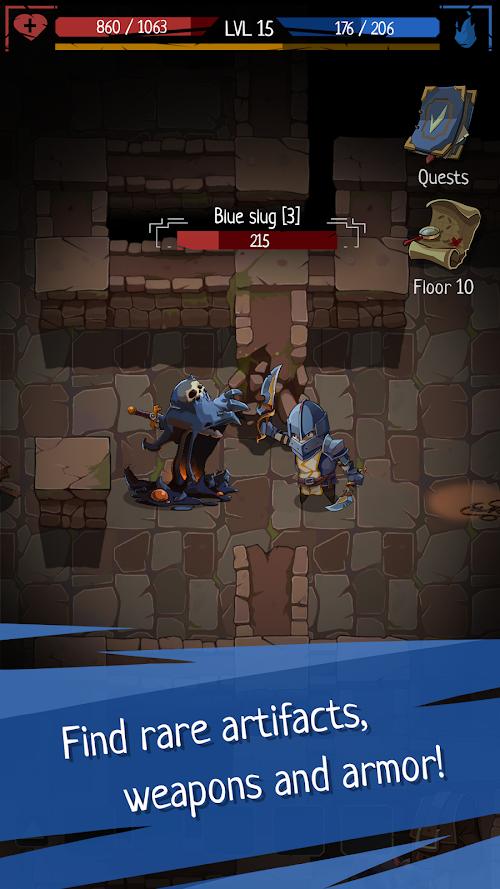 Screenshot 2 Roguelike RPG In Dungeon - Order of Fate Offline 0.0.62 APK MOD