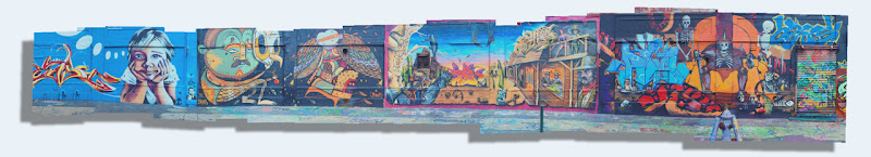 Photo: 20 shot panoramic of one of the long walls at 5 Pointz