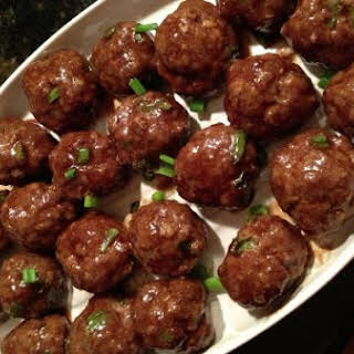 Asian Style Meatballs.
