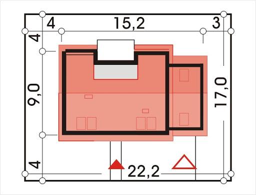 Adaś II wersja B z pojedynczym garażem - Sytuacja