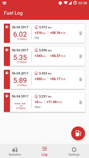Motorcycle Fuel Log - Mileage tracker  screenshots 3