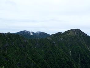 中央奥に南駒ヶ岳