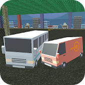 Blocky Bus Battle: Holo Rider 3D