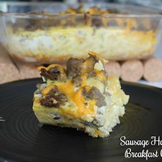 Sausage Hash Brown Breakfast Casserole.
