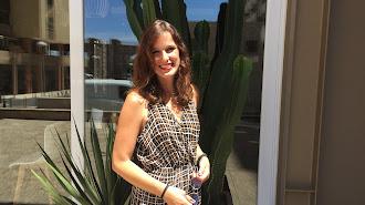 Irene Pardo, tras la entrevista, junto a la cafetería de la Sala Clasijazz.