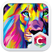 Abstract Lion Theme C Launcher