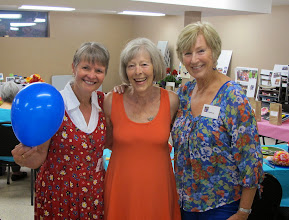 Photo: Our Organizing Committee (the blue balloon is Carol S)