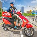 Scooty Bike Pizza Delivery Girl Simulator icon