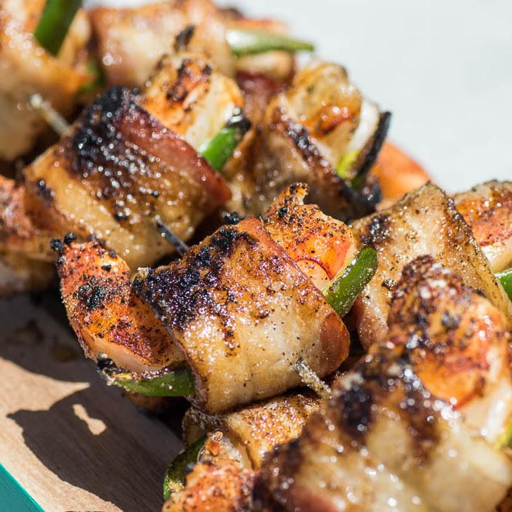 Grilled Jalapeno Bacon Wrapped Shrimp