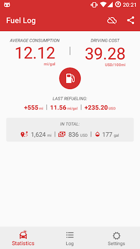 Car Fuel Log - Mileage tracker screenshot