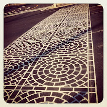 Photo: A new crosswalk on Dewdney Street in Maple Ridge #intercer #street #light #sun #city #fall #urban #architecture #design #urbano #town #structure #reflections #circle #circles #crosswalk #britishcolumbia #canada #model #shape #pretty #beautiful #black #white - via Instagram, http://instagr.am/p/QbRD1ppfoN/