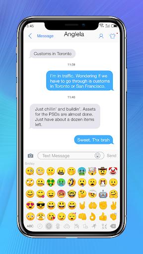 Messaging+ OS11 Cute Emoji 2.8 screenshots 3