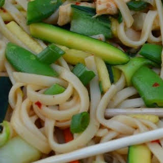 Chow Mein with Chicken and Vegetables.
