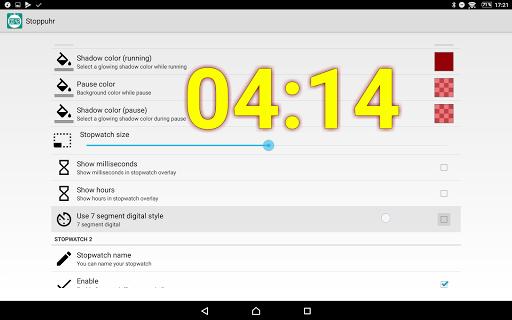 Floating Stopwatch, free multitasking timer 3.2.7 screenshots 9