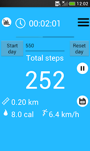 Pedometer and step counter- screenshot thumbnail