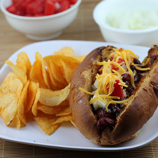 Grilled BBQ Beans Chili Dog