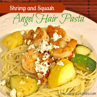 Summer Squash & Shrimp Pasta