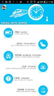 Tatkal IRCTC Status - náhled