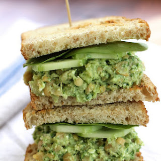 Smashed Chickpea Avocado Sandwich.