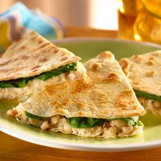 Warm White Bean & Tuna Quesadillas
