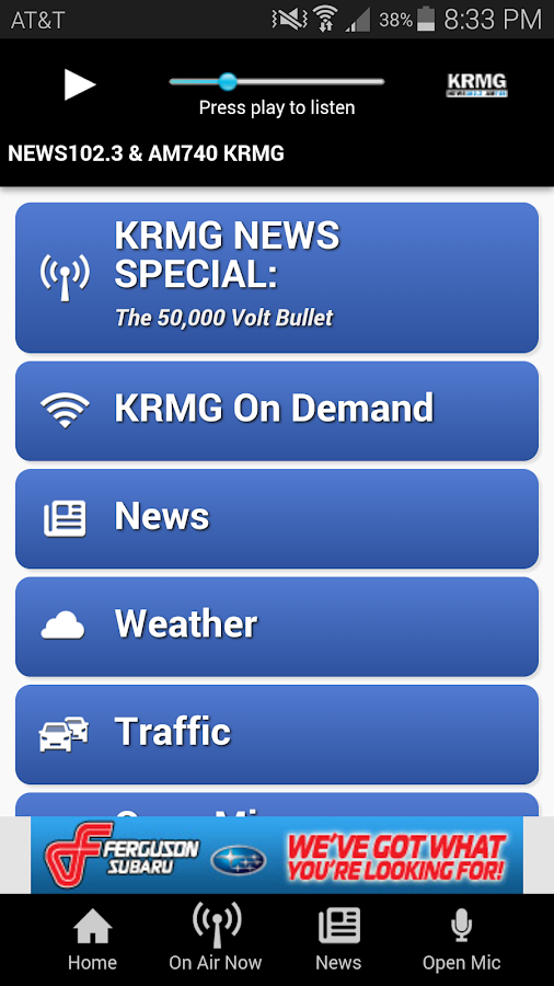 KRMG Radio- screenshot