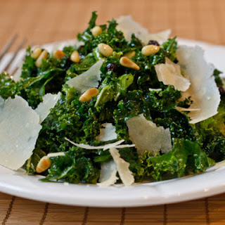 Shredded Kale Salad with Pine Nuts, Currants, and Parmesan Recipe