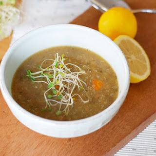 Lemon Ginger Lentil Soup