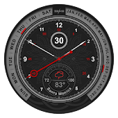 Schwarze Premium Watch Face