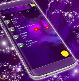 Neon Wolf SMS Téma - náhled