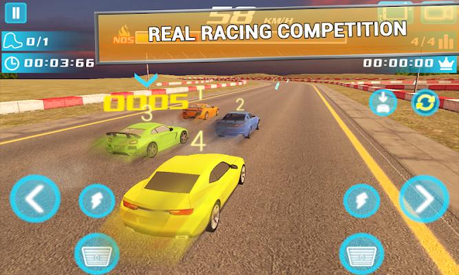 Airborne Real Car Racing Free Game - screenshot