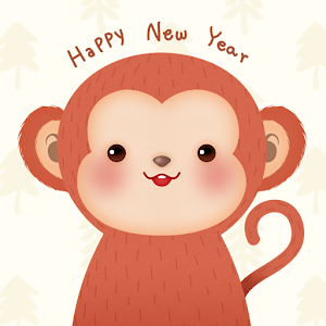 download Happy Monkey Year Atom Theme apk