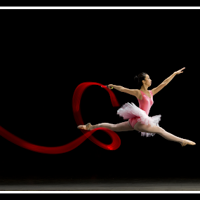I believe I can fly by Aditya Kristanto - People Body Art/Tattoos ( dance fly ballerina red )