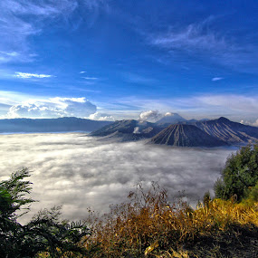 Bromo by Roly Raseda - Landscapes Cloud Formations