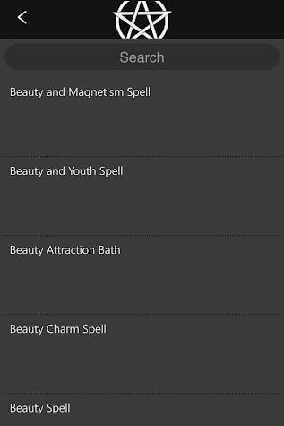 Wicca Spells and Tools Screenshot