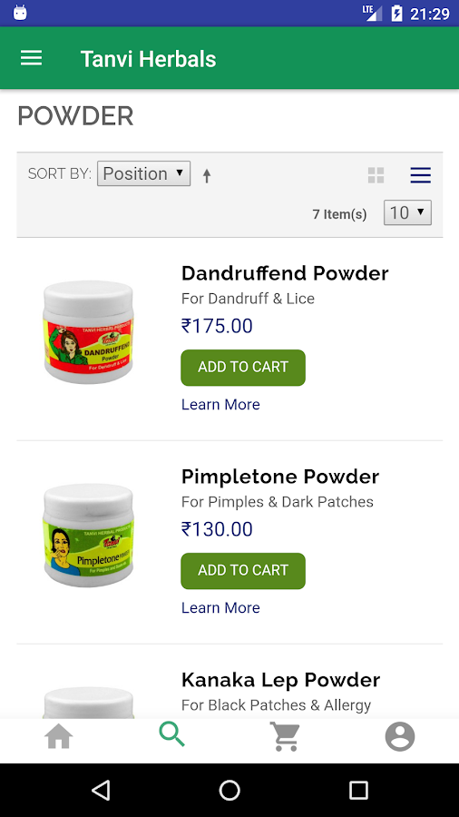 Tanvi Herbals- screenshot