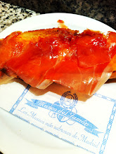Photo: Museo del Jamón, which is a deli and restaurant.  Madrid.  Iberico ham.