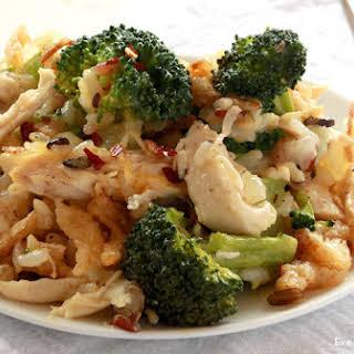 Chicken Wild Rice Broccoli Casserole.