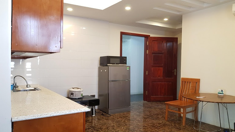 Cheap 1 – bedroom apartment with balcony in Yen Phu street, Tay Ho district for rent