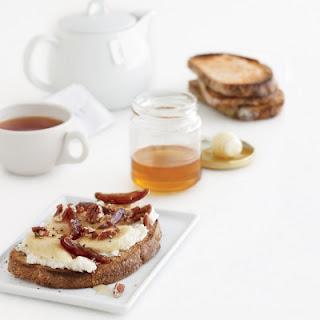 Banana-Ricotta Toasts with Pecans, Dates, and Honey.