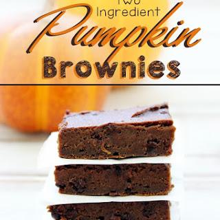 Two Ingredient Pumpkin Brownies.