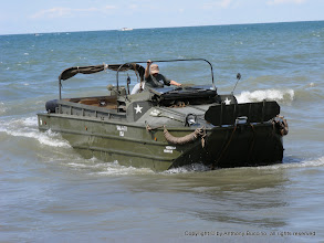 Photo: DUKW runs in water and on land.