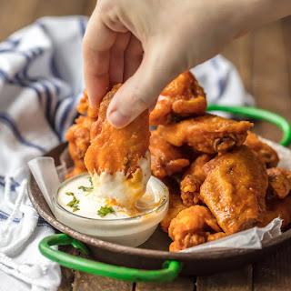 The BEST Fried Buffalo Wings (Gluten Free).