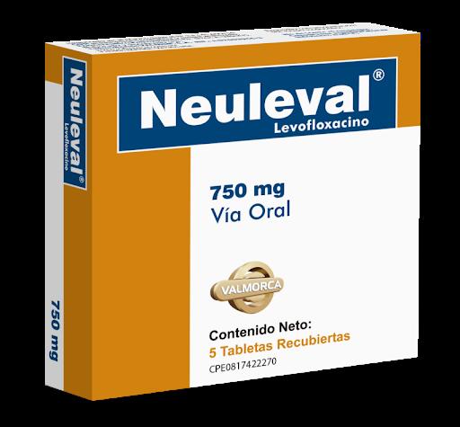 Levofloxacina Neuleval 750mg 5Tabletas  Valmor