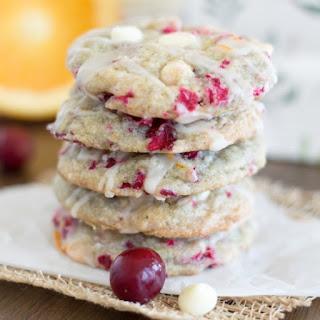 White Chocolate Cranberry Cookies {with Orange Glaze}.